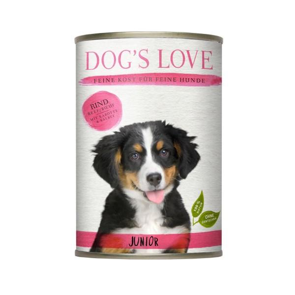 Dogs Love Junior Rind mit Karotte & Salbei