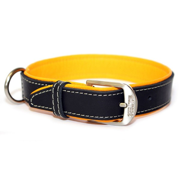 Wolters Terranova Fettleder Halsband mango-schwarz