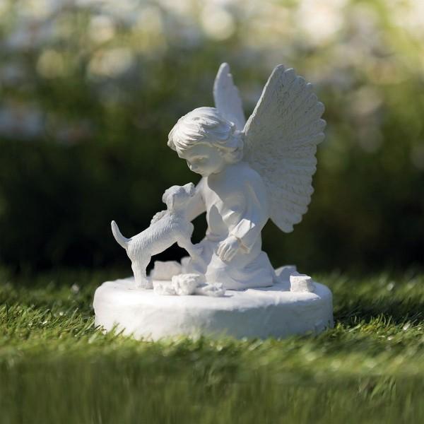 Gedenkstein Hund mit Engel