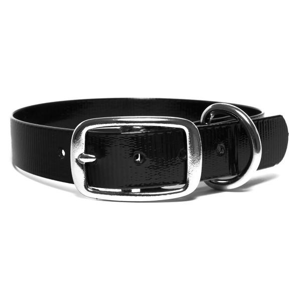 Mystique BioThane Halsband De Luxe glossy schwarz