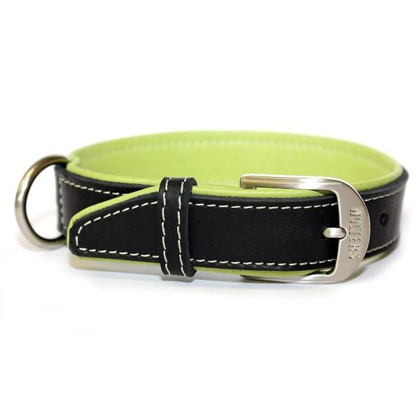 Wolters Terranova Fettleder Halsband apfel-schwarz