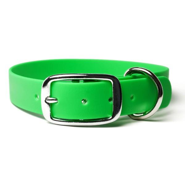 Mystique Biothane Halsband De Luxe neon grün