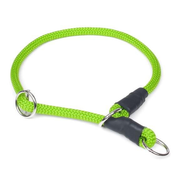 Zugstop Nylonhalsband rund neon grün