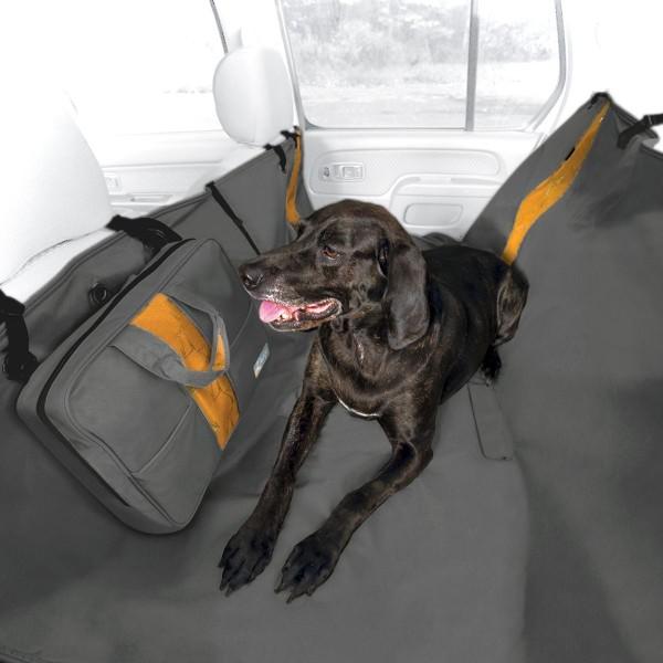 Kurgo Wander Hammock Auto Schutzdecke für Rücksitze grau