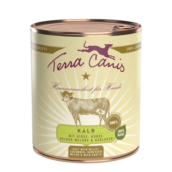 Terra Canis Menü Classic Kalb mit Hirse, Gurke, gelber Melone und Bärlauch