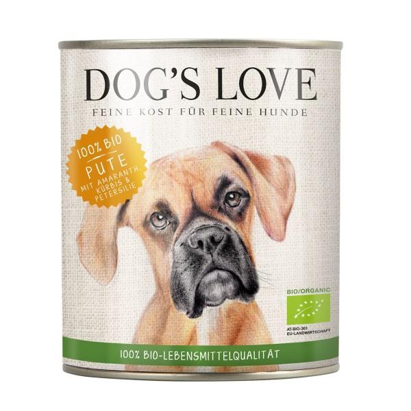 Dogs Love Bio Pute mit Amaranth, Kürbis & Petersilie