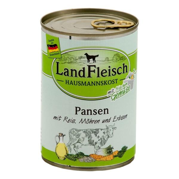Landfleisch Hausmannskost Pansen mit Reis