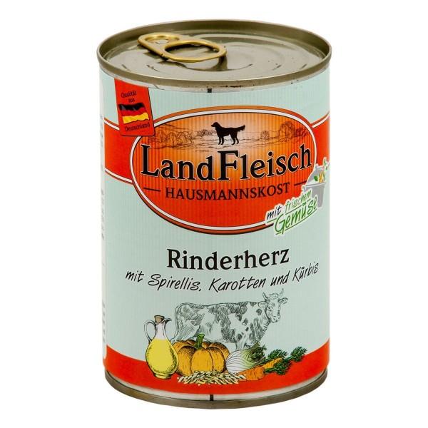 Landfleisch Hausmannskost Rinderherz & Spirellis