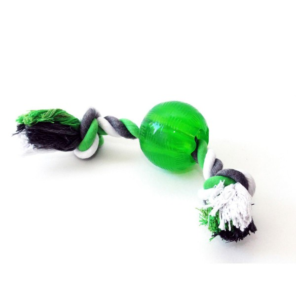 Wolters Bite-Me Strong Spielball mit Seil lime
