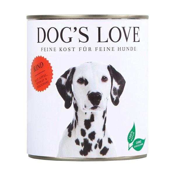 Dogs Love Rind mit Apfel Spinat und Zucchini