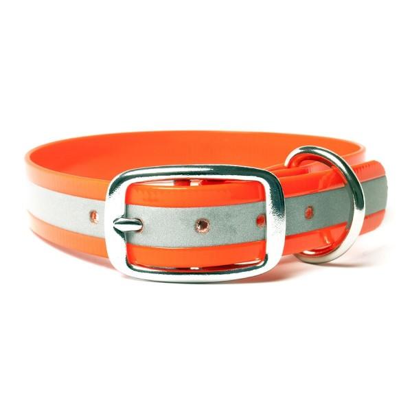 Mystique Biothane Halsband De Luxe reflex orange
