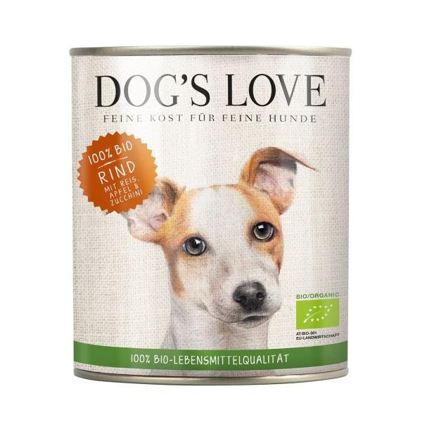 Dogs Love Bio Rind mit Reis, Apfel & Zucchini
