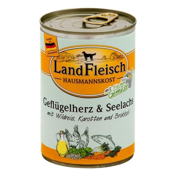 Landfleisch Hausmannskost Geflügelherz & Seelachs