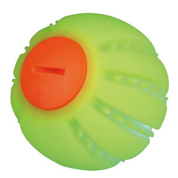 Hundespielzeug USB-Leuchtball grün