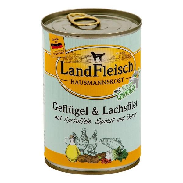 Landfleisch Hausmannskost Geflügel & Lachsfilet