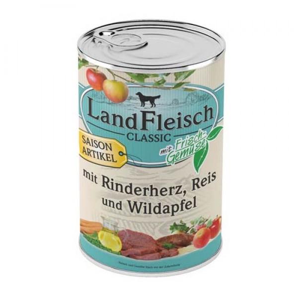 Landfleisch Hausmannskost Rinderherz & Reis mit Wildapfel