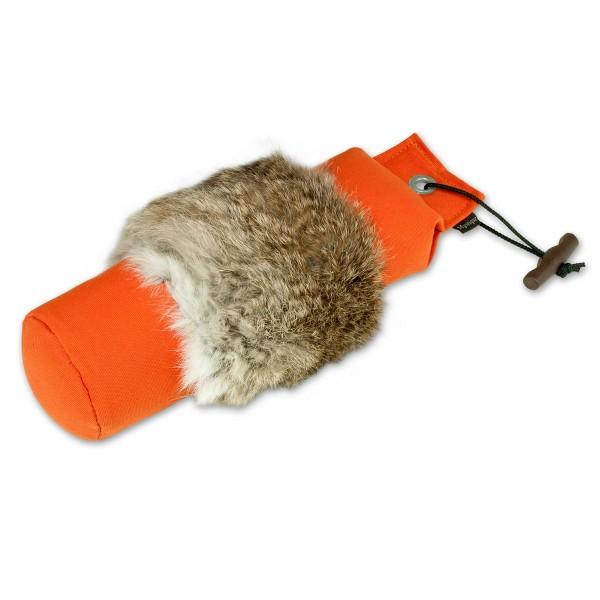 Dummy mit Kaninchenfell orange