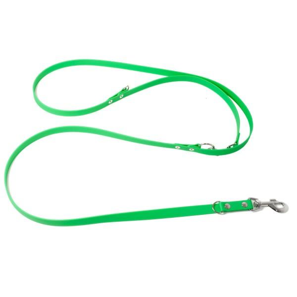 Mystique Biothane Leine verstellbar neon grün